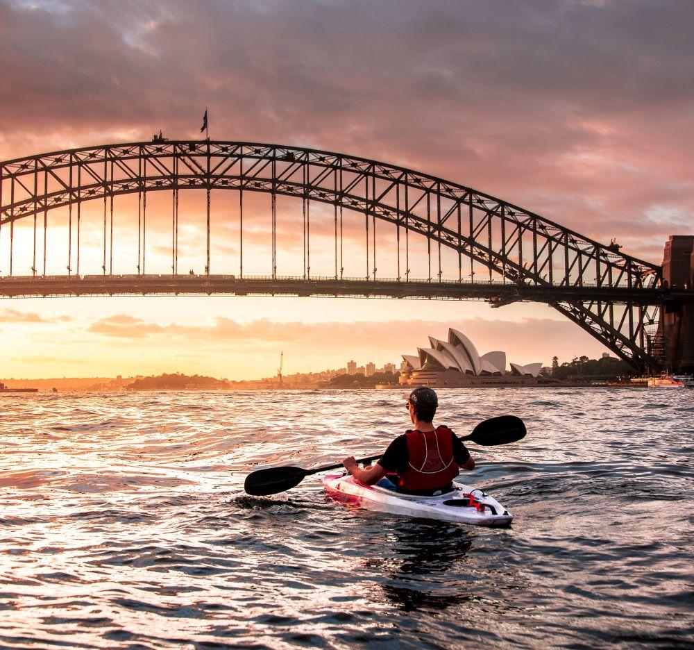 Paddler in Sydney