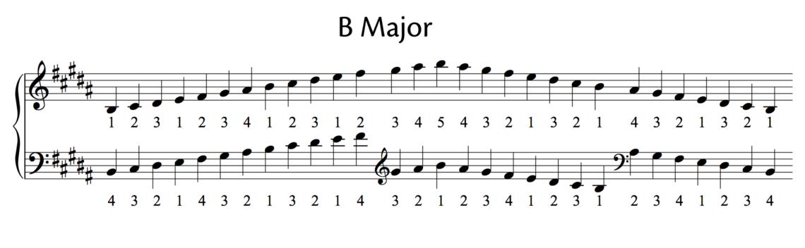 B major scale