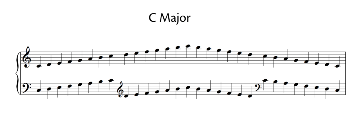 c major scale extended