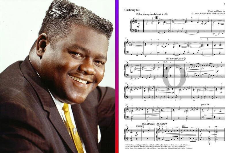 fats domino piano sheet music