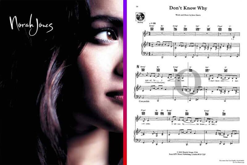 norah jones piano sheet music