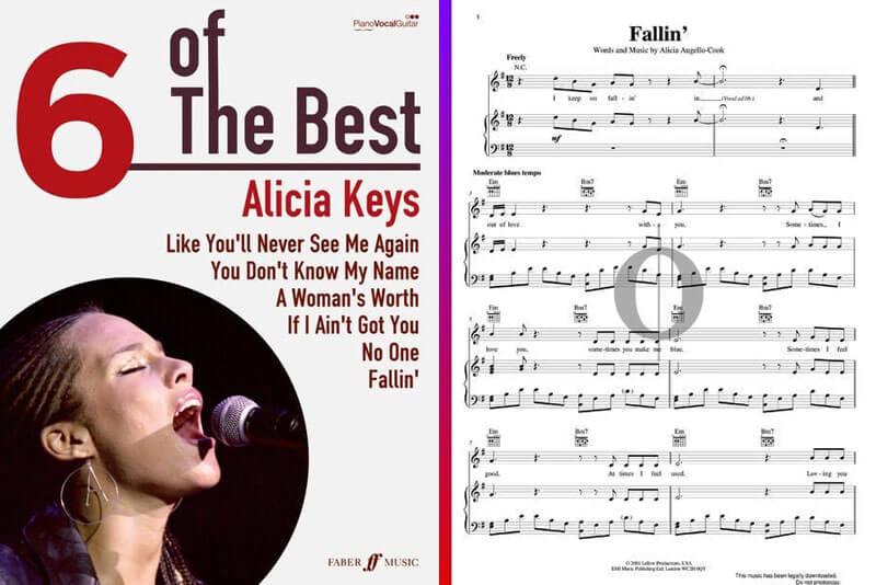 alicia keys piano sheet music