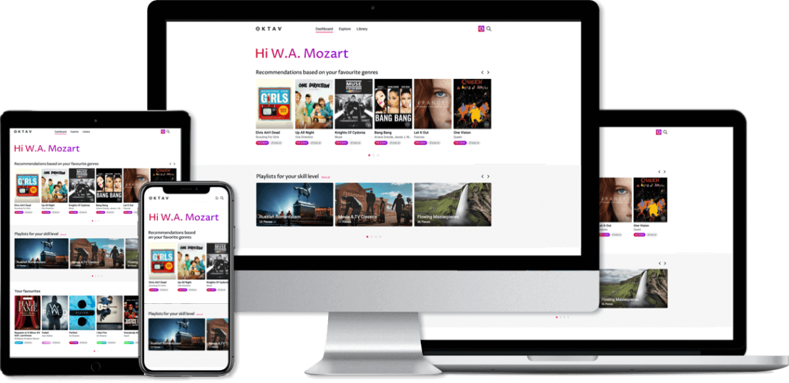 OKTAV sheet music platform