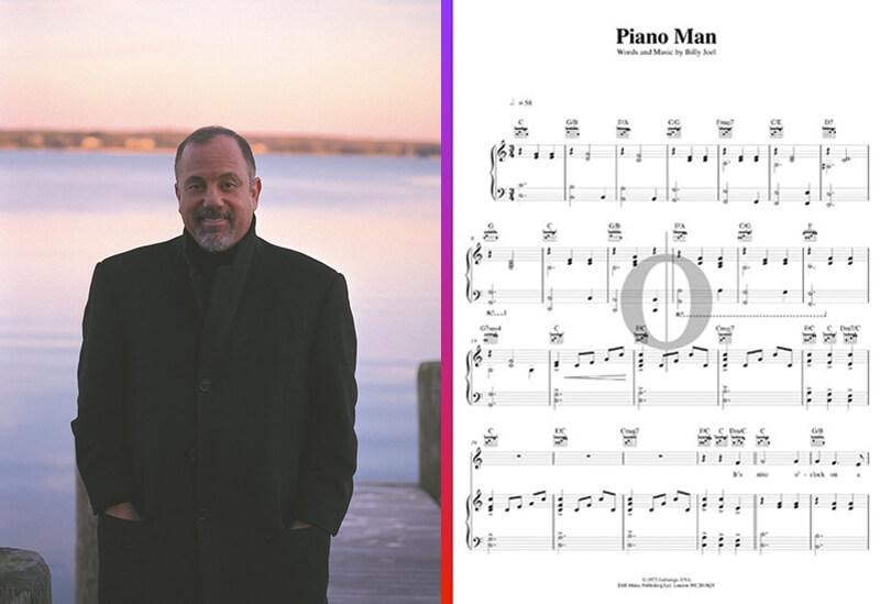 billy joel piano sheet music