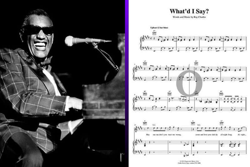 ray charles piano sheet music