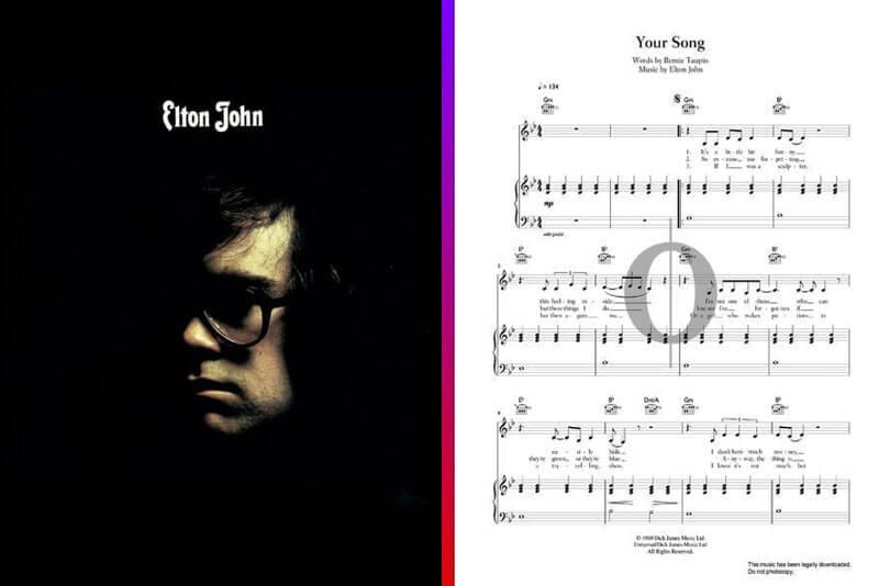 elton john piano sheet music